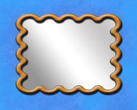 Frame do espelho Foto de Stock Royalty Free