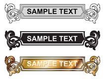 Frame do estilo de Vicrtorian Imagens de Stock
