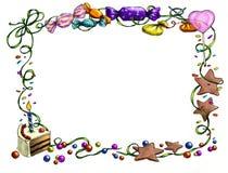 Frame do feliz aniversario Imagens de Stock Royalty Free