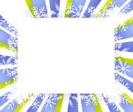 Frame do floco de neve ou beira 2 ilustração do vetor