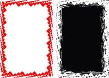Frame do fundo do coração de Grunge e do coração Foto de Stock Royalty Free