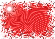 Frame do grunge do floco de neve, elementos para o projeto, vetor Imagem de Stock Royalty Free