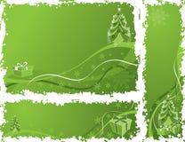 Frame do grunge do Natal, elementos para o projeto, vetor Imagem de Stock Royalty Free
