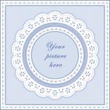 frame do ilhó do azul de bebê de +EPS, fundo sem emenda Imagens de Stock Royalty Free