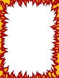 Frame do incêndio Chamas em bordas Fundo da flama ilustração do vetor