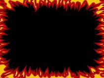 Frame do incêndio Chamas em bordas Fundo da flama ilustração royalty free
