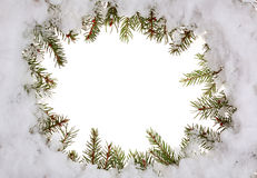 Frame do inverno Imagens de Stock Royalty Free