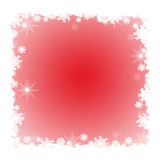 Frame do inverno com flocos de neve ilustração royalty free