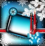 Frame do inverno com velas ilustração do vetor