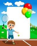 Frame do menino do tênis ilustração do vetor