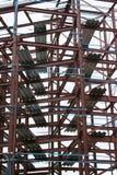 Frame do metal de um edifício imagem de stock royalty free