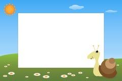 Frame do miúdo - caracol ilustração stock