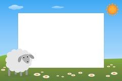 Frame do miúdo - carneiro ilustração royalty free