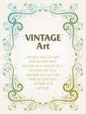 Frame do molde do vintage ilustração stock