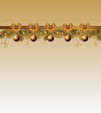 Frame do Natal com esferas Imagens de Stock