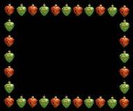 Frame do Natal. Corações vermelhos e verdes ilustração royalty free