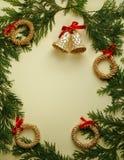 Frame do Natal de Cypress Fotografia de Stock Royalty Free