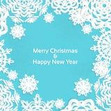 Frame do Natal do floco de neve do Applique para seu texto ilustração royalty free