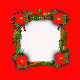 Frame do Natal do Poinsettia Imagem de Stock Royalty Free