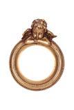 Frame do ouro com cupid fotos de stock