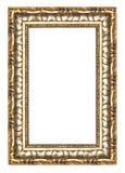 Frame do ouro do retrato com um teste padrão decorativo Imagens de Stock Royalty Free
