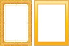Frame do ouro dois Fotos de Stock