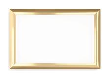 Frame do ouro em um fundo branco rendição 3d Fotos de Stock