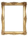 Frame do ouro isolado no fundo branco Foto de Stock Royalty Free