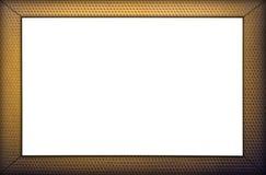 Frame do ouro isolado no fundo branco Imagem de Stock