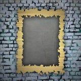 Frame do ouro na parede Foto de Stock