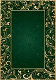 Frame do ouro no fundo verde ilustração royalty free