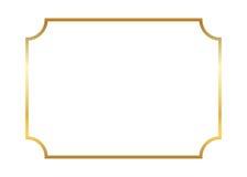 Frame do ouro Simples bonito ilustração do vetor