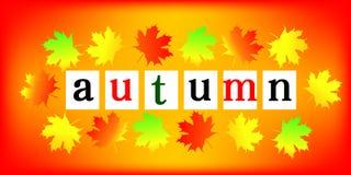 Frame do outono Ilustração do Vetor