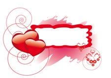 Frame do retângulo com corações Imagens de Stock Royalty Free