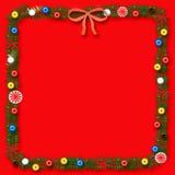 Frame do scrapbook do Natal ilustração stock