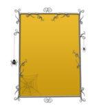 Frame do tabuleiro de damas de Halloween Goth Imagem de Stock
