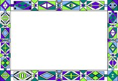 frame do teste padrão da Africano-tribal-arte ilustração stock