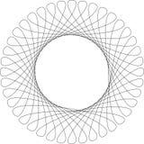 Frame do teste padrão do Spirograph Imagem de Stock