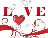 Frame do Valentim Fotografia de Stock