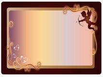 Frame do Valentim ilustração royalty free
