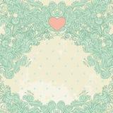 Frame do Valentim do vintage Imagens de Stock