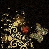 Frame do Valentim do vintage ilustração stock