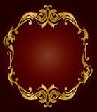 Frame do vermelho do ouro Foto de Stock Royalty Free
