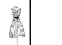 Frame do vestido foto de stock