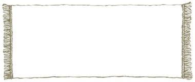 Frame do vetor Toalha com franja Fotografia de Stock Royalty Free