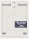 Frame do vintage, certificado ou molde do diploma ilustração royalty free