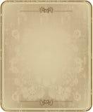 Frame do vintage com teste padrão floral abstrato. Fotografia de Stock