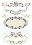 Frame do vintage decorado com coroa e as curvas. Fotografia de Stock Royalty Free