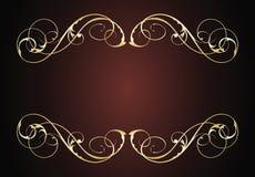 Frame do vintage do ouro ilustração royalty free