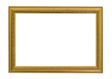 Frame do vintage do ouro O ouro elegante do vintage/dourou a moldura para retrato fotos de stock royalty free